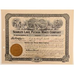 Searles Lake Potash Mines Company Stock Certificate   (107126)