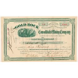 Gold Rock Cons. Mining Company Stock Certificate   (107020)