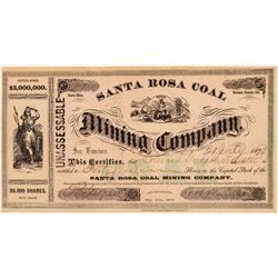 Santa Rosa Coal Mining Company Stock Certificate   (104419)