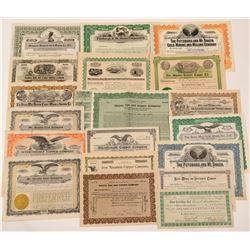 Shasta & Red Bluff Mining Stock Certificate Collection   (107253)