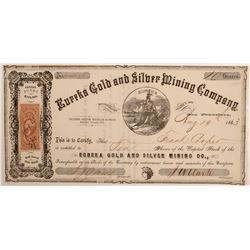 Eureka Gold & Silver Mining Company Stock   (106536)