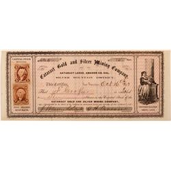 Cataract Gold and SIlver Mining Company Stock   (103594)