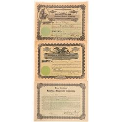 Three Different Sonoma Mining Stock Certificates   (107283)