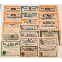 Trinity County Mining Stock Certificate Collection   (107254)