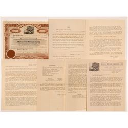 Mark Twain Mining Company Stock Certificate & Ephemera   (107145)