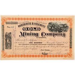 North Hite & Yosemite Gold Mining Co. Stock Certificate   (107103)
