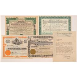 California Oil Stock Certificates incl. a No. 1 Issued   (104437)