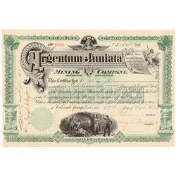 Argentum Juniata Stock Cert   (106641)