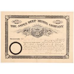 Aspen Deep Mining Company Stock Certificate   (107187)