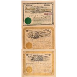 Three Different Boulder County Mining Stock Certificates   (107162)