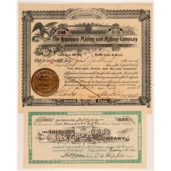 Two Different Boulder County Mining Stock Certificates   (107161)