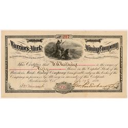 Warrior's Mark Mining Company Stock Certificate   (104307)