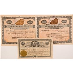 Gold Dirt Mining Company Stock Certificates   (104268)