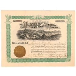 Asiatic Tunnel, Mining & Milling Company Stock Certificate   (103509)