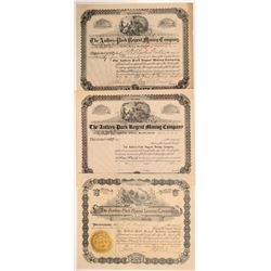 Antlers-Park Regent Leasing Company Stock Certificate Trio   (107153)