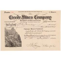 Creede Mines Co. Stock   (106614)