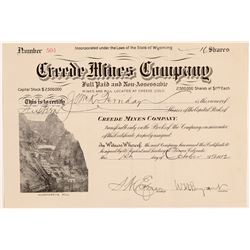 Creede Mines Co. Stock   (106614)