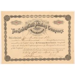 Schuylkill Mining Company Stock Certificate   (104340)