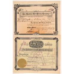Two Creede Mining Stock Certificates   (107163)