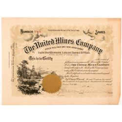 United Mines Company Stock Certificate   (104273)