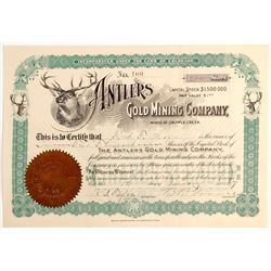 Antlers Gold Mining Company Stock   (79748)