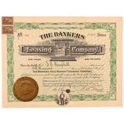 Bankers Gold Mining & Leasing Co. Stock Certificate   (104195)