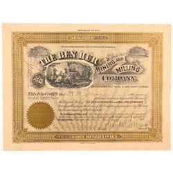 Ben Hur Mining & Milling Co. Stock Certificate   (104194)