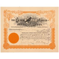 Black Crow Gold Mining Company Stock Certificate   (104197)