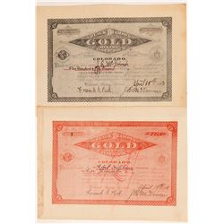 Black Diamond Gold Mining Co. Stock Certificates   (107174)