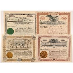 Four Different Cripple Creek Mining Stock Certificates   (107177)