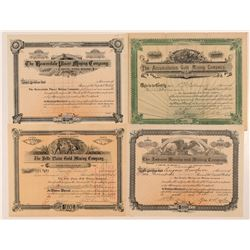 Four Different Cripple Creek Mining Stock Certificates   (107327)