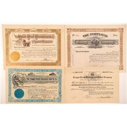 Four Different Cripple Creek Mining Stock Certificates   (104201)