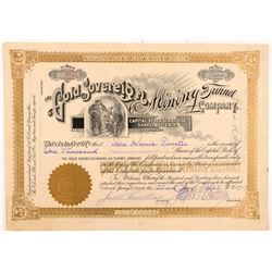 Gold Sovereign Mining & Tunnel Co. Stock Certificate   (104190)