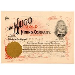 Hugo Gold Mining Company Stock Certificate   (104228)
