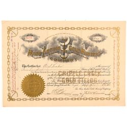 Moon-Anchor Gold Mining Company Stock Certificate   (104191)