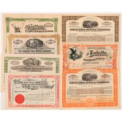 Seven Different Cripple Creek Mining Stock Certificates    (104241)