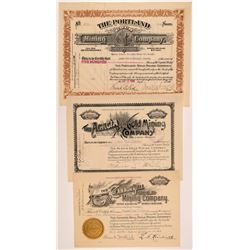 Three Good Cripple Creek Mining Stock Certificates   (104202)