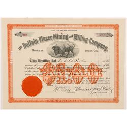 Buffalo Placer Mining & Milling Co. Stock Certificate   (104269)