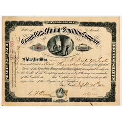 Grand View Mining & Smelting Co. Stock Certificate   (107024)