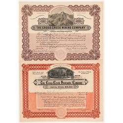 Two Cross Creek, Colorado Mining Stock Certificates   (104248)