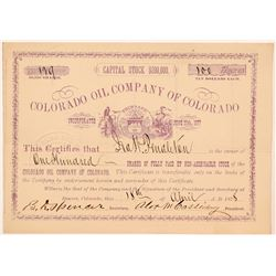 Colorado Oil Company Stock Certificate   (104473)