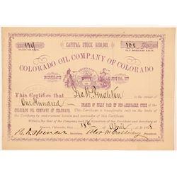 Colorado Oil Company Stock Certificate   (104473)
