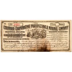 Colorado Co-Operative Prospecting & Mining Co. Stock Certificate   (104470)