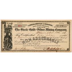 Steele Gold & Silver Mining Co. Stock Certificate   (104337)