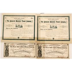 Colorado Mining Certificates (4)   (58904)