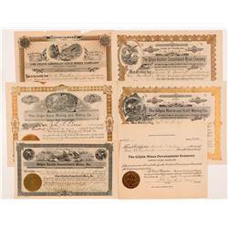 Gilpin County, Colorado Mining Stock Certificates   (104274)