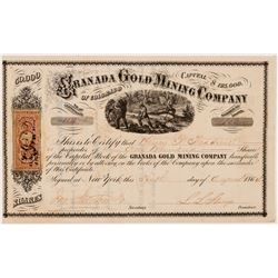 Granada Gold Mining Co. of Colorado Stock Certificate   (104347)