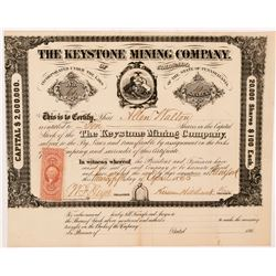 Keystone Mining Company of Colorado Stock Certificate   (104345)