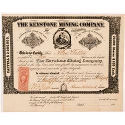 Keystone Mining Company of Colorado Stock Certificate   (104345)