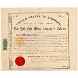 New York Gold Mining Company of Colorado Bond   (107189)